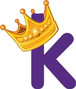 King K with Crown on top