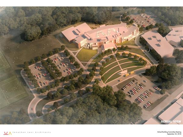 Aerial Rendering of the Future Fuller Middle School