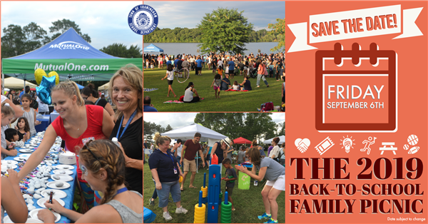 Save the date for the 2019 back to school family picnic