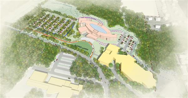 Birds Eye View - Rendering of the future Fuller Middle School