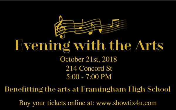 Evening with the Arts Promotional Graphic
