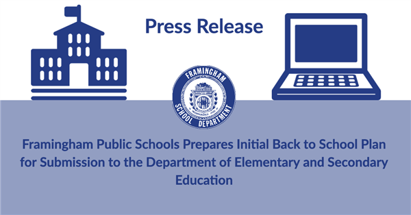 Press Release with School and Laptop Icons