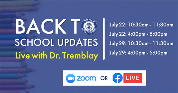 Back to School Updates Live with Dr. Tremblay