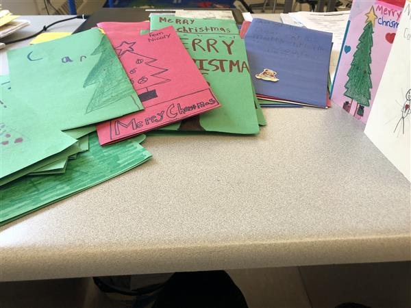 Cards for Carlos at Woodrow Wilson Elementary School