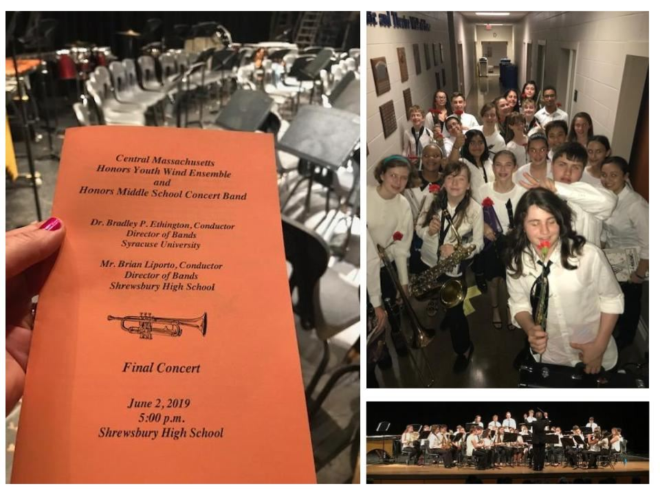 Photos from the Central Massachusetts Honors Band Concert