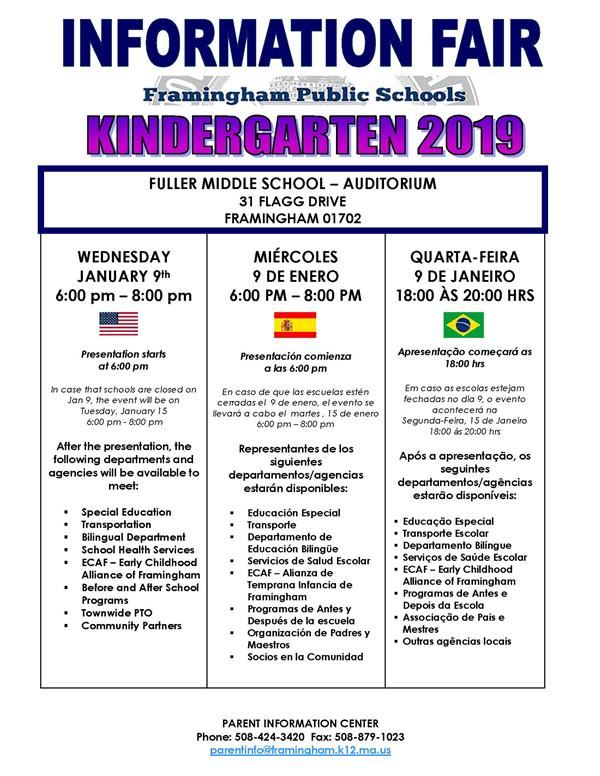 Kindergarten Info Fair Flyer