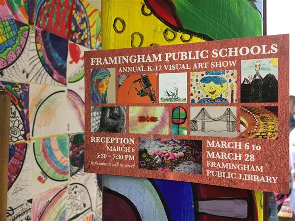 K12 Art Show at the Framingham Public Library