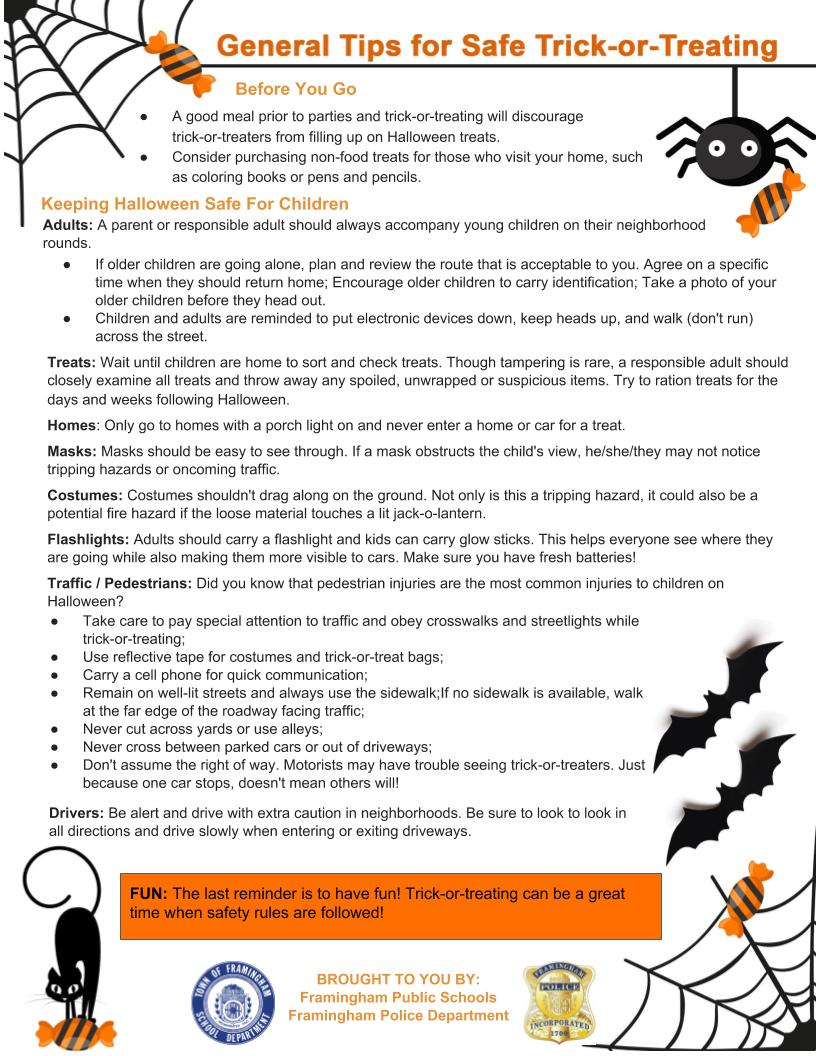halloween advisory - safety tips for trick-or-treating