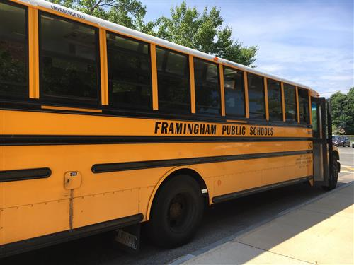 Image of a Framingham Public School Bus