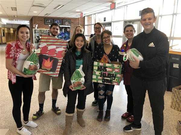 Main Chairs of the Holiday Drive Organized by the National Honor Society