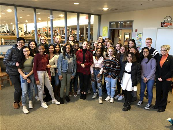 MA Attorney General Maura Healey Visits FHS