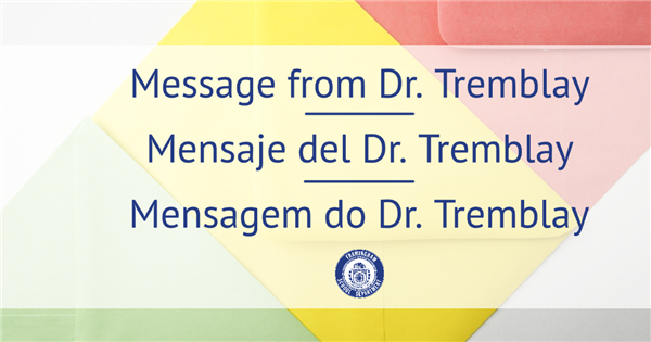 Important message from Dr. Tremblay