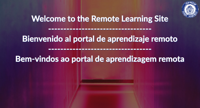 Welcome to the Remote Learning Site