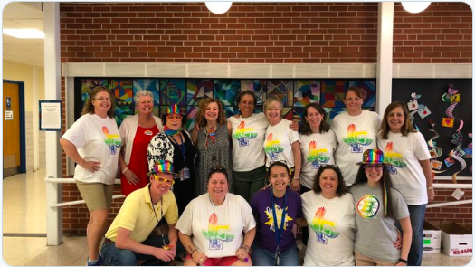 Dunning Staff showing their #FPSPride in 2018