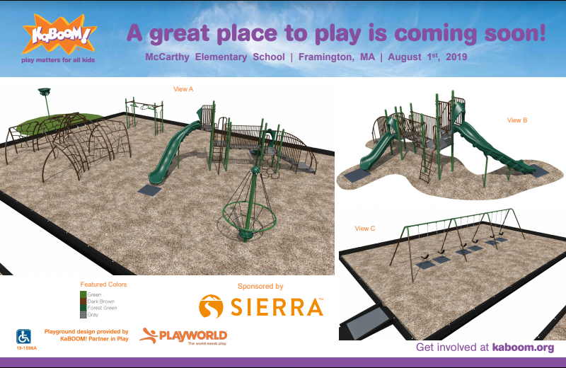 McCarthy Elementary School's New Playground Design