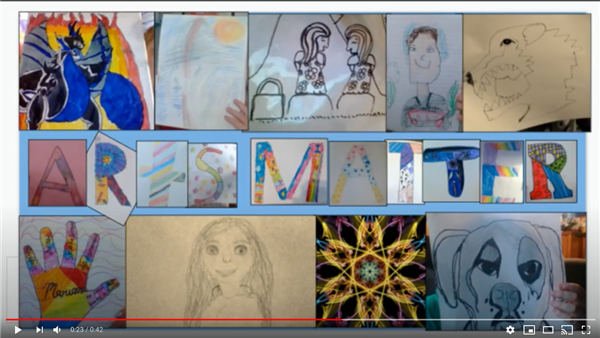 Screenshot from montage video of Framingham Art