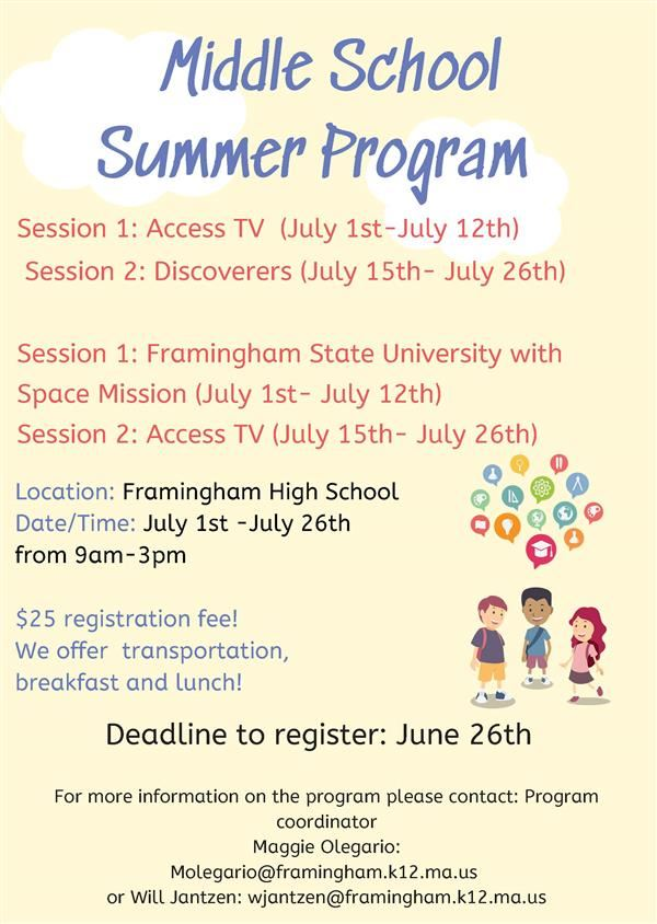 Free Summer Programming - English