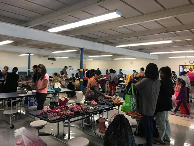 Photo of people shopping at the Fall Swap Day