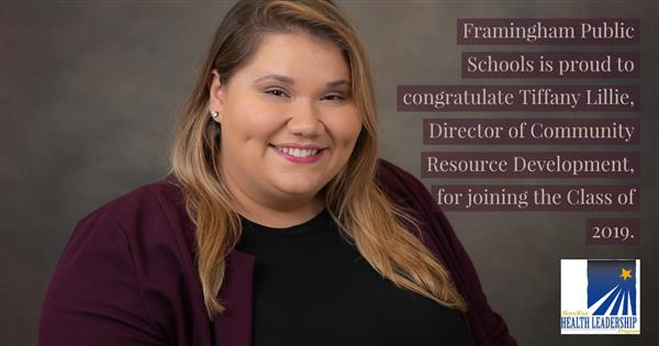 Tiffany Lillie joins the 2019 Metrowest health Leadership Program