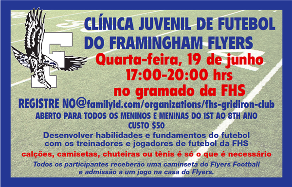 Youth Football Clinic Hosted by Framingham Flyers Portuguese