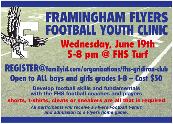Framingham Flyers Hosting Youth Football Clinic