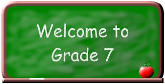 grade 7 welcome to 7th grade