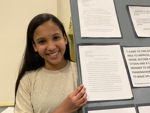 Congratulations to Giovana da Silva, One the Winning Authors of the Framingham 2020 Essay Contest