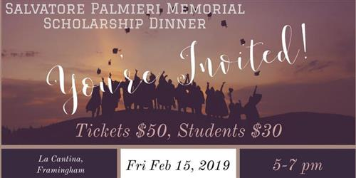 Annual Salvatore Palmieri Memorial Scholarship Dinner.