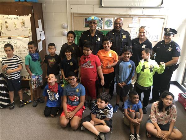 Police Officers visiting the Adventure Summer School Program